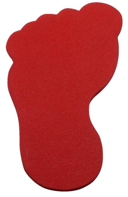Sport-Thieme Bodenmarkierung Fuss, 20 cm, Rot