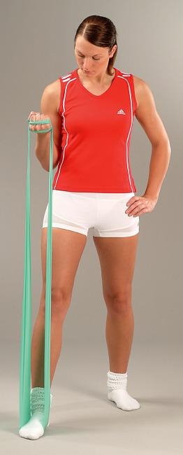 Sport-Thieme Fitnessband 75 2 m x 7,5 cm, Grün = leicht