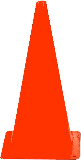 Sport-Thieme Markierungskegel 20,5x20,5x37 cm, Orange