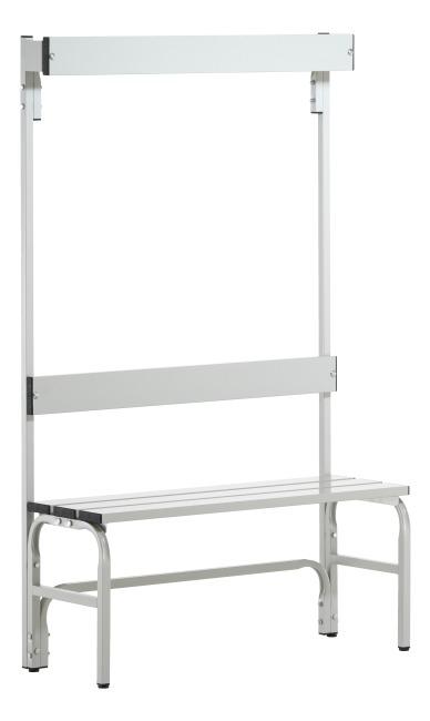 sypro wolf umkleidebank f r nassr ume mit r ckenlehne kaufen sport. Black Bedroom Furniture Sets. Home Design Ideas