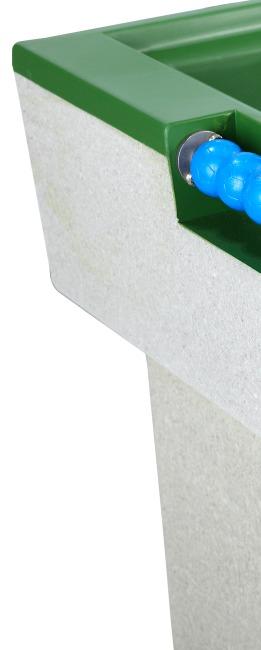 Table de babyfoot en béton polymère Vert