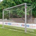 Sport-Thieme Jugendfussballtor 5x2 m, Quadratprofil, in Bodenhülsen stehend Verschraubte Eckverbindungen
