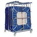 Chariot de transport pour mini-trampolines Pour 8 mini trampolines