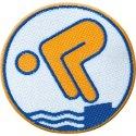 Jugend-Schwimmabzeichen Gold, Mit Bügelbeschichtung, rund lasergeschnitten