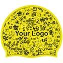 Sport-Thieme® Bedruckte Schwimmkappe Latex Gelb, 1-seitig