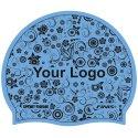 Sport-Thieme® Bedruckte Schwimmkappe Latex Hellblau, 1-seitig