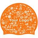 Sport-Thieme® Bedruckte Schwimmkappe Latex Orange, Beidseitig