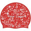 Sport-Thieme® Bedruckte Schwimmkappe Latex Rot, Beidseitig