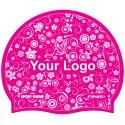 Sport-Thieme® Bedruckte Schwimmkappe Latex Pink, Beidseitig