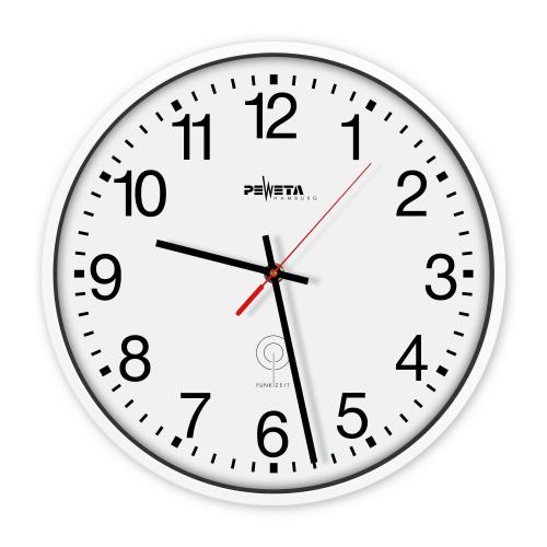 Horloge murale radiopilotée Peweta en plastique