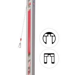 Dispositif de tension par poulie pour poteaux 80x80 mm et ø 83 mm