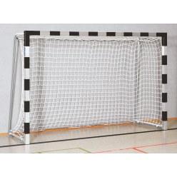 Sport-Thieme Hallenhandballtor  3x2 m, in Bodenhülsen stehend Schwarz-Silber, Verschweisste Eckverbindungen