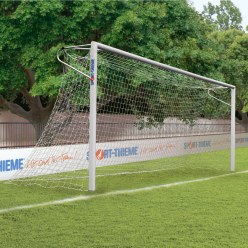 Sport-Thieme® Alu-Fussballtore, 7,32x2,44 m, eckverschweisst, in Bodenhülsen stehend