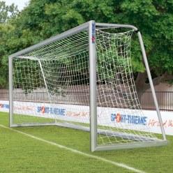 Jugendfussballtor 5x2 m vollverschweisst, mit Bodenrahmen 120x100 mm im Oval-Profil