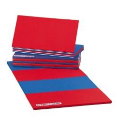 Sport-Thieme Tapis pliable 240x120x3 cm, Bleu-jaune-vert-rouge