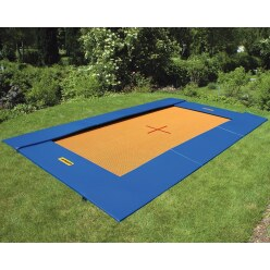 Eurotramp Trampolin Bodentrampolin Master, Grau-Orange