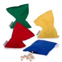 Lot de 4 sacs de fèves Sport-Thieme® 120 g, env. 15x10 cm, Lavable avec granulés plastiques