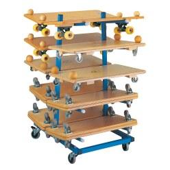 Chariot de rangement pour planches à roulettes Sport-Thieme®