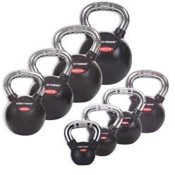 Sport-Thieme® Kettlebell Set gummiert mit Chrom-Griff