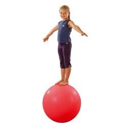 Balance-Kugel Rot mit Silberflitter, ø ca. 60 cm, 12 kg