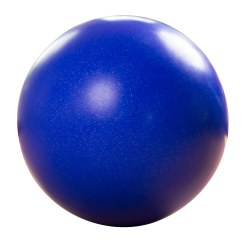 Balance-Kugel ø ca. 60 cm, 12 kg, Dunkelblau mit Silber-Flitter
