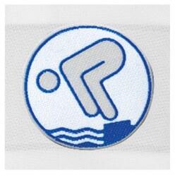 Jugend-Schwimmabzeichen Bronze, Mit Bügelbeschichtung, rund lasergeschnitten