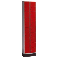 Armoire à casiers « S 4000 Intro » Rouge feu (RAL 3000)