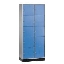 """Grossraum-Schliessfachschrank """"S 4000 Intro"""" (5 Fächer übereinander) Enzianblau (RAL 5010), 195x85x49 cm/ 10 Fächer"""
