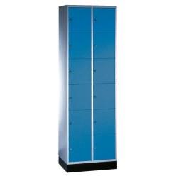 """Schliessfachschrank """"S 4000 Intro"""" (6 Fächer übereinander) Lichtgrau (RAL 7035), 195x62x49cm/ 12 Fächer"""