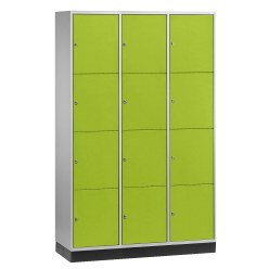 Armoire à casiers « S 4000 Intro » (4 casiers superposés) Vert viride (RDS 110 80 60), 195x82x49 cm/ 8 compartiments