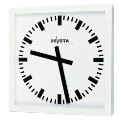 Peweta® Grossraum-Wanduhr 50x50 cm, Batteriebetrieb