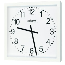 Peweta Grossraum-Wanduhr 50x50 cm, Netzbetrieb