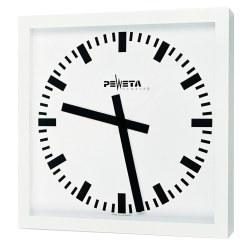 Peweta® Grossraum-Wanduhr 50x50 cm, Netzbetrieb