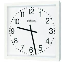 Peweta® Grossraum-Wanduhr 40x40 cm, Batteriebetrieb