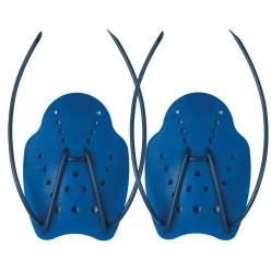 Paddles de natation Taille M, 20x14 cm, Bleu