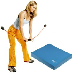 Flexi-Bar Sport & Airex Balance Pad Set