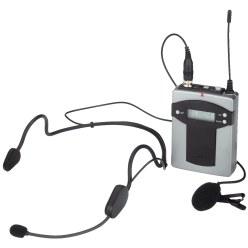Monacor® Taschensender mit 2 Mikrofonen