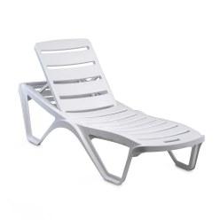Chaise longue en plastique « Capriccio » Anthracite