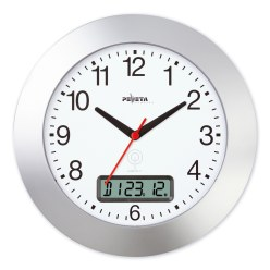 Peweta® Funkwanduhr mit Datumanzeige
