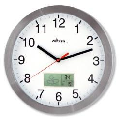 Peweta® Wanduhr mit Thermo-/Hygrometeranzeige