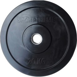 Disque d'haltère Sport-Thieme Bumper Plate, noir