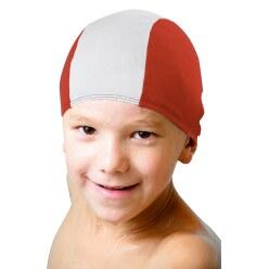 Textil-Schwimmkappen Schwarz-Weiss  , Erwachsene