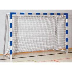 But de handball en salle Sport-Thieme 3x2 m  avec fourreaux et supports de filet rabattables Noir-argent, Angles d'assemblage soudés