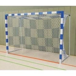 Sport-Thieme® Hallenhandballtor 3x2 m, frei stehend Blau-Silber Verschweißte Eckverbindungen