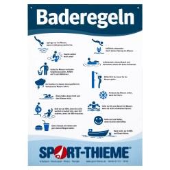 """Sport-Thieme® Kunststofftafel """"Baderegeln"""""""