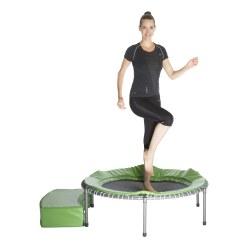 Trampoline Sport-Thieme® Thera-Tramp Vert métallique, Jusqu'à un poids corporel d'env. 60 kg