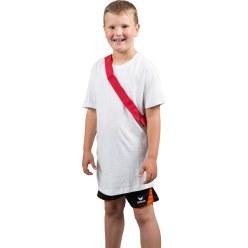 Mannschaftsband mit Klettverschluss Rot, Kinder, L: ca. 50 (100) cm