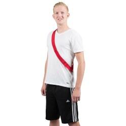Mannschaftsband mit Klettverschluss Rot, Erwachsene, L: ca. 60 (120) cm