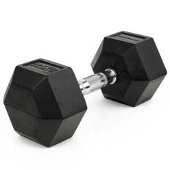 Haltère compact Sport-Thieme® en caoutchouc Hex