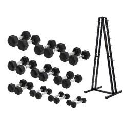Sport-Thieme® Gummi Hex Kompakthantel Set